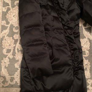 Tahari down black ruffle detail winter jacket